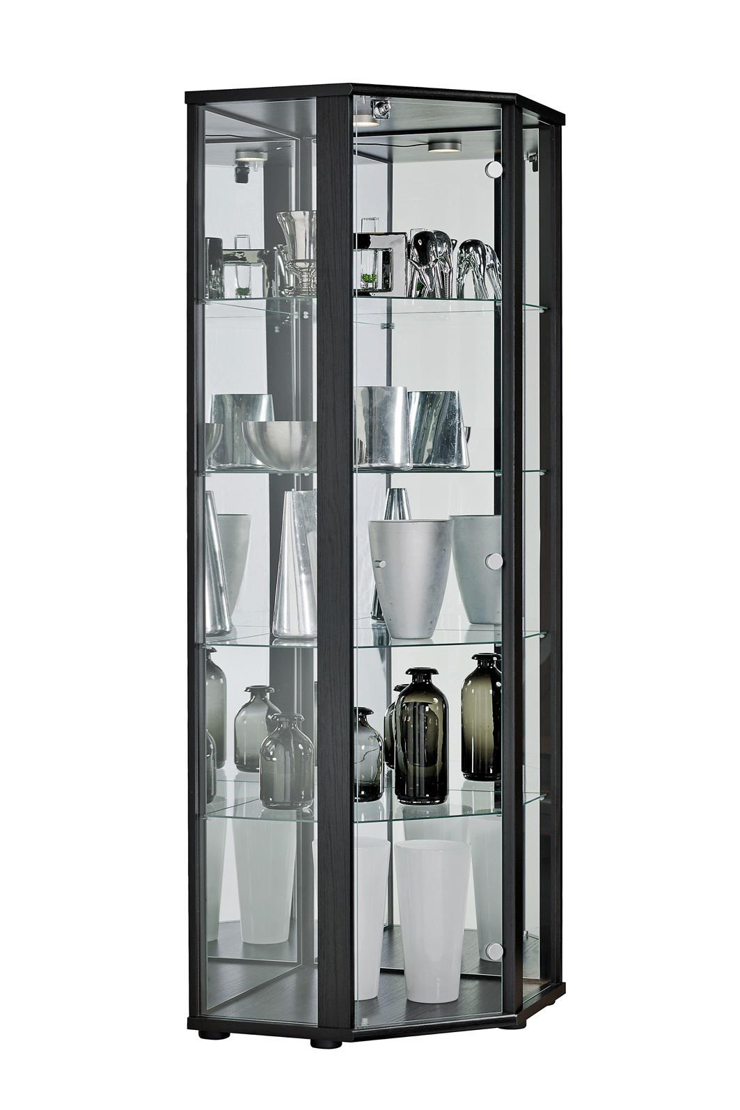 glasvitrine sammelvitrine eckvitrine vitrine led. Black Bedroom Furniture Sets. Home Design Ideas