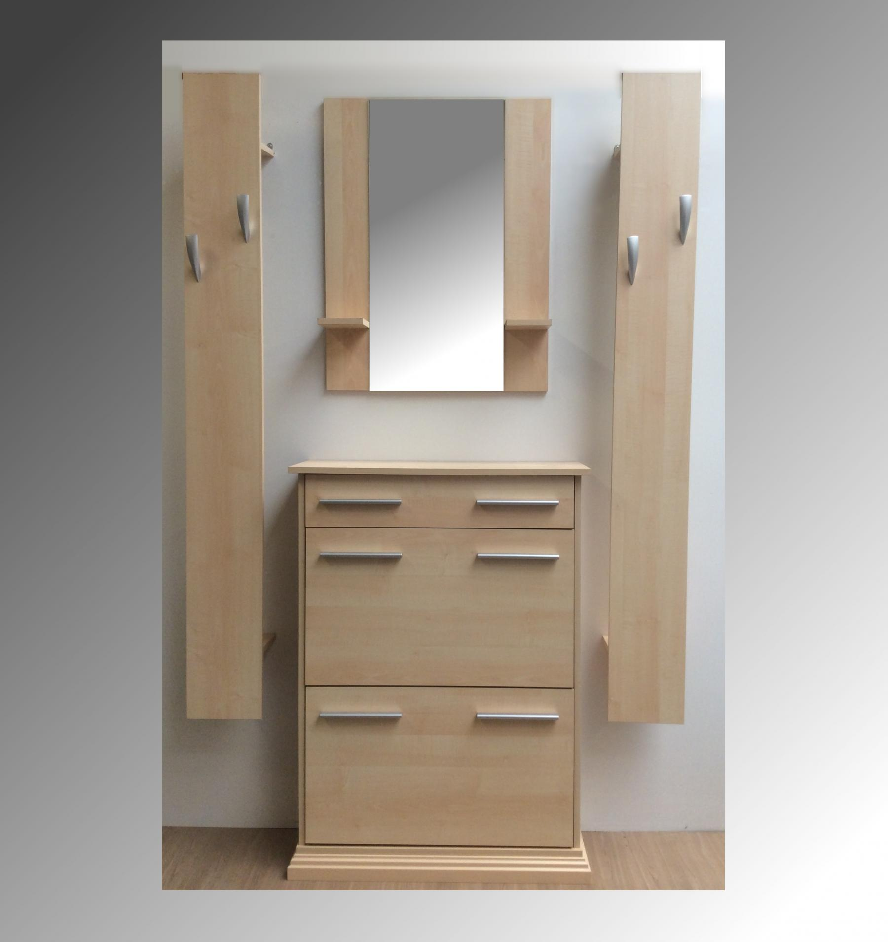 garderobenset flur garderobe dielenm bel ahorn. Black Bedroom Furniture Sets. Home Design Ideas