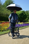 MPB-Schirm Modell 85 für Rollatoren und Rollstühle - BR