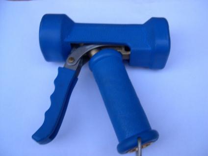 Heißwasser - Waschpistole 50°C/24b Edelstahl/Messing für Lebensmittel Metzgerei