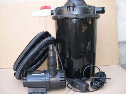 1x Gartenteichfilter - Anlage Druckfilter + 24W UVC + Filterpumpe PG 12000 L/h - Vorschau