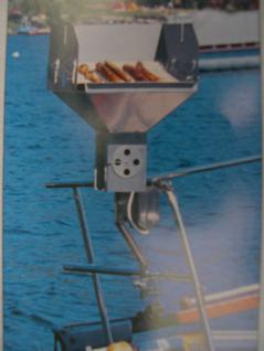 Edelstahl - Holzkohlegrill für Sportboot Yacht Motorboot Boot Segelboot Reling - Vorschau