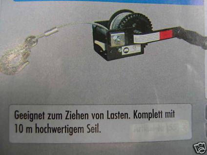 Profi- Seilzug 360 Kg Handseilzug Seilwinde Handwinde