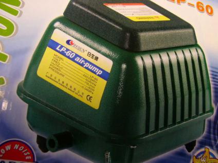 Resun LP-60 4200 l/h Teichbelüfter Durchlüfter Sauerstoffpumpe Luftpumpe - Vorschau