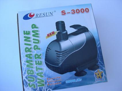 Resun Filterpumpe 3000 L/h Wasserfall - , Bachlauf - Pumpe Teichfilterpumpe - Vorschau