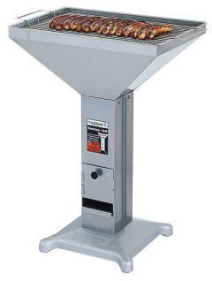 Profi Bratwurst-Säulengrill mit großer Grillfläche 600/400 Holzkohle - Grill