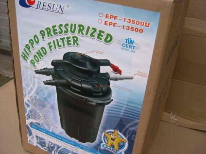 R Resun Druckfilter Teichfilter mit 24W UVC 18000 L/h - Vorschau 1