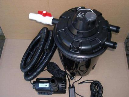 Gartenteich - Set Druckfilter S + 24W UVC + Teichfilterpumpe 8000 Liter/h Teich