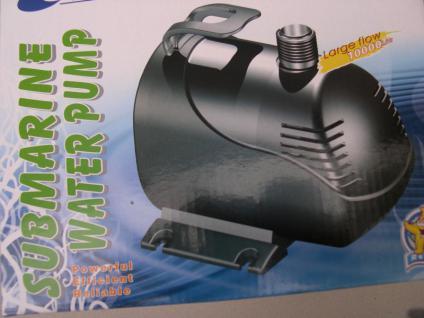 Bachlauf- und Strömungspumpe 10000 Liter Filterpumpe für Garten- u. Koiteich - Vorschau