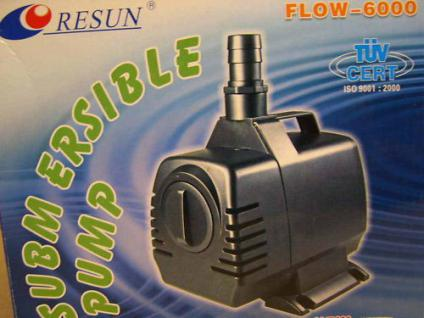 Resun Bachlauf- u Teichfilterpumpe Filterpumpe 6000 Liter Wasserfallpumpe