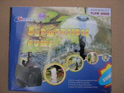 Profi Filterpumpe 6000L/h Bachlaufpumpe f. Teichfilter - Vorschau 1