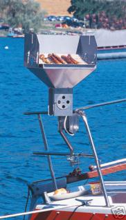 1x Balkongrill Bootsgrill V2A Holzkohlegrill Campinggrill Yacht Boot Segelboot