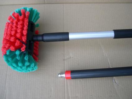 Waschbürste + Rohr 1m mit Wasserdurchlauf für Autofelgen Stahlfelgen Alufelgen