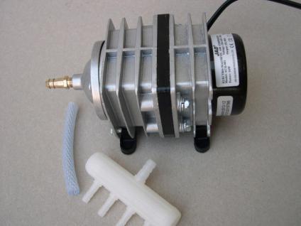 ACQ001 Teichbelüfter Set 1500 l Belüfter Sauerstoffpumpe Ausströmer Koi Teich