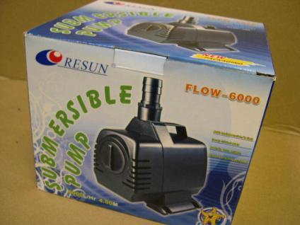 Resun Teichfilterpumpe 6000 Liter Filterpumpe Strömungspumpe f. Teichfilter