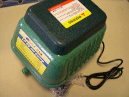 Hochleistungs - Luftpumpe 9000 Liter Teichdurchlüfter Sauerstoffpumpe Koiteich