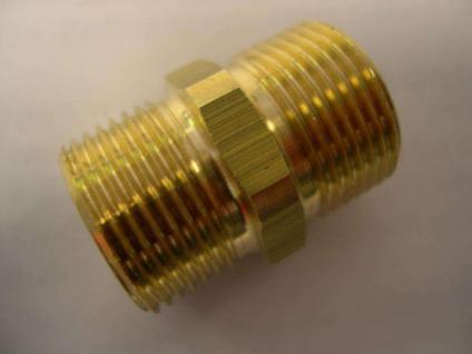 Schlauchnippel Messing M21x1,5 Alto Wap Nilfisk Hochdruckreiniger - Vorschau