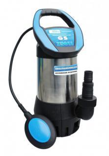 Güde Wasserpumpe 13000 Liter 750W Schmutzwasserpumpe Tauchpumpe Edelstahlwelle