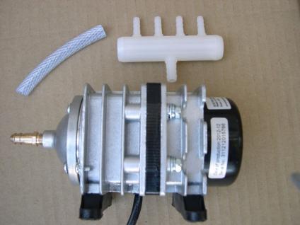 Sauerstoffpumpe 1500 Liter/h Teichbelüfter Durchlüfter Luftpumpe für Ausströmer - Vorschau