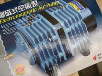 MembrankolbenpumpeTeichbelüfter 6600 l/h Belüfter Durchlüfter Sauerstoffpumpe