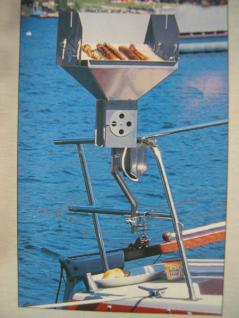 Bootsgrill Angler - Holzkohlegrill V2A Yacht Angelboot Boot Kaminzuggrill Grill