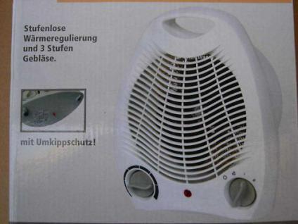 Frostwächter elektisches Heizgerät 2ooo W Gebläseheizer (3 Stufen) Heizlüfter