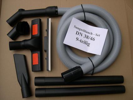 2,5m Saugschlauch - Set 9-tlg DN38 Wap Turbo 1001 1001-KI -SA -AE Euro Sauger