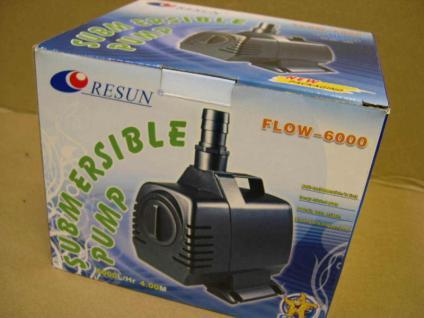 Resun Bachlauf- und Filterpumpe 6000 l/h Teichpumpe Filterpump für Teichfilter