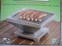 Edelstahl Camping - Grill Tischgrill Gartengrill Holzkohlegrill Made in Germany