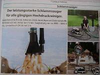 Schlamm - Sauger Schlammsauger Teichsauger für Kärcher Kränzle Hochdruckreiniger