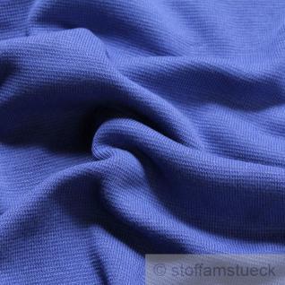 0, 5 Meter Baumwolle Lycra Interlock Jersey Bündchen kobaltblau 50 cm breit