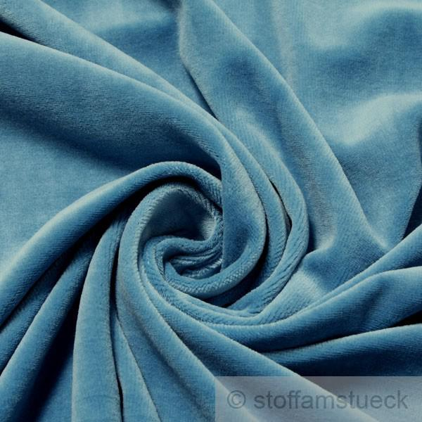 Stoff Baumwolle Polyester Nicky himmelblau Nicki weich