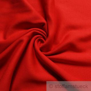 0, 5 Meter Baumwolle Lycra Interlock Jersey Bündchen rot 35 cm breit Schlauch