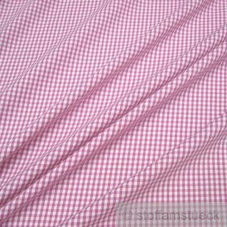 Stoff Baumwolle Vichy Karo pink weiß 2, 5 mm Vichykaro