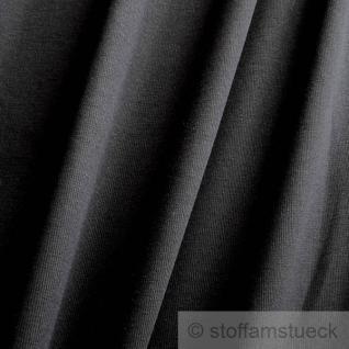 0, 5 Meter Baumwolle Lycra Interlock Jersey Bündchen schwarz GOTS 85 cm breit