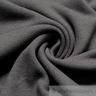 0, 5 Meter Baumwolle Lycra Interlock Jersey Bündchen grau 47 cm breit Schlauch