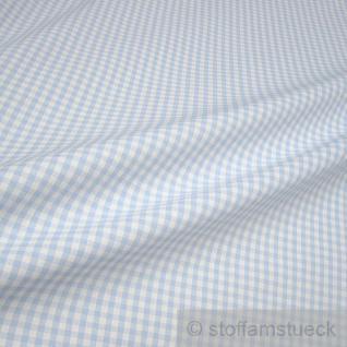 Stoff Baumwolle Vichy Karo groß hellblau weiß 5 mm Vichykaro