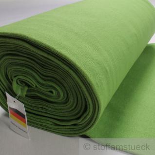 0, 5 Meter Baumwolle Lycra Interlock Jersey Bündchen grün 35 cm breit Schlauch