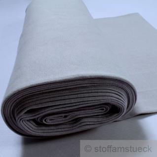 0, 5 Meter Baumwolle Lycra Interlock Jersey Bündchen hellgrau 45 cm breit