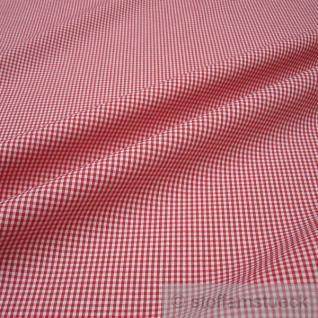 Stoff Baumwolle Vichy Karo klein rot weiß 1, 5 mm Vichykaro