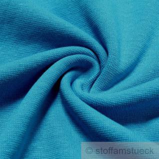0, 5 Meter Baumwolle Lycra Interlock Jersey Bündchen blau 50 cm breit Schlauch II.Wahl