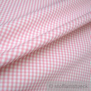 Stoff Baumwolle Vichy Karo groß rosa weiß 5 mm Vichykaro
