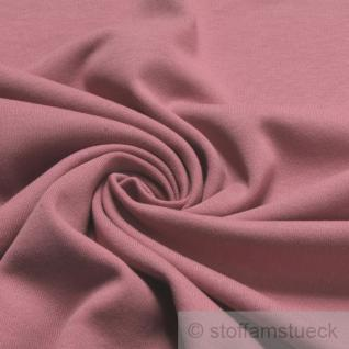 0, 5 Meter Baumwolle Lycra Interlock Jersey Bündchen pastellrosa 45 cm breit