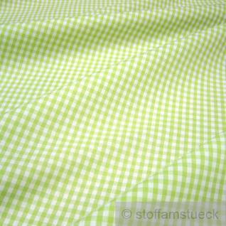 Stoff Baumwolle Vichy Karo hellgrün weiß 2, 5 mm Vichykaro