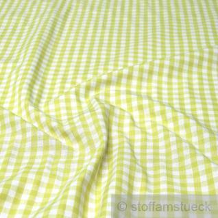 Stoff Baumwolle Vichy Karo groß hellgrün weiß 5 mm Vichykaro