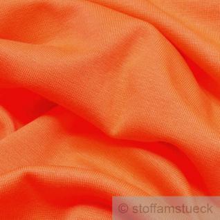 0, 5 Meter Baumwolle Lycra Interlock Jersey Bündchen orange 50 cm breit II. Wahl