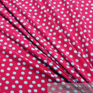 Stoff Baumwolle Polyester Nicky Punkte fuchsia hellblau pink