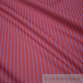 2 Meter Stoff Polyester Baumwolle Köper Streifen rot blau stabil EUR 3, 10 / m
