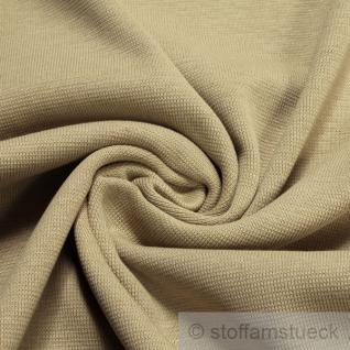 0, 5 Meter Baumwolle Lycra Interlock Jersey Bündchen beige 45 cm breit Schlauch
