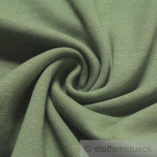 0, 5 Meter Baumwolle Lycra Interlock Jersey Bündchen schilfgrün 45 cm breit